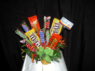 Candy & Coffee Bouquet From Rogue River Florist, Grant's Pass Flower Delivery