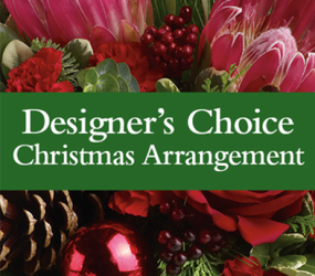 Designer Choice Christmas Arrangment From Rogue River Florist, Grant's Pass Flower Delivery