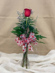 Single Red Rose Budvase From Rogue River Florist, Grant's Pass Flower Delivery