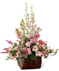 Exquisite Memorial Basket From Rogue River Florist, Grant's Pass Flower Delivery