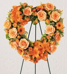 Hearts Eternal Wreath From Rogue River Florist, Grant's Pass Flower Delivery