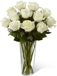 The FTD White Rose Bouquet From Rogue River Florist, Grant's Pass Flower Delivery