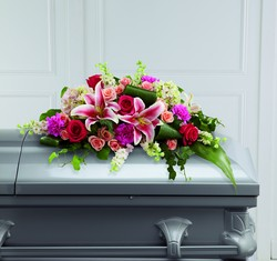 The FTD Splendid Grace Casket Spray From Rogue River Florist, Grant's Pass Flower Delivery