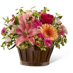 The FTD Spring Garden Basket From Rogue River Florist, Grant's Pass Flower Delivery