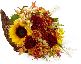 The FTD Fall Harvest Cornucopia From Rogue River Florist, Grant's Pass Flower Delivery
