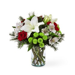 Christmas Spirit Bouquet From Rogue River Florist, Grant's Pass Flower Delivery
