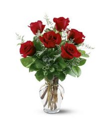 Half Dozen Roses From Rogue River Florist, Grant's Pass Flower Delivery