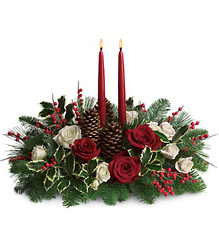 Christmas Wishes Centerpiece From Rogue River Florist, Grant's Pass Flower Delivery