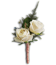 White Tie Boutonniere From Rogue River Florist, Grant's Pass Flower Delivery