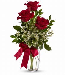 Triple Red Rose Budvase From Rogue River Florist, Grant's Pass Flower Delivery