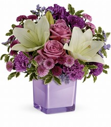 Teleflora's Pleasing Purple Bouquet From Rogue River Florist, Grant's Pass Flower Delivery