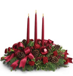 Christmas Carol Centerpiece From Rogue River Florist, Grant's Pass Flower Delivery